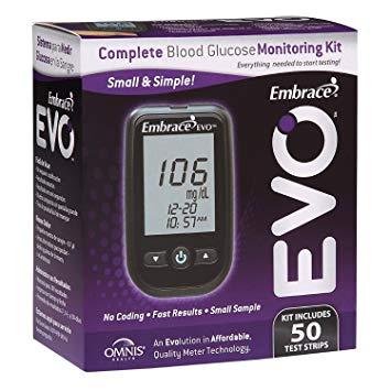 دستگاه تست قند خون  EVOویژه افراد دیابتی با 50 نوار تست